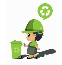 Children to recycle vector image