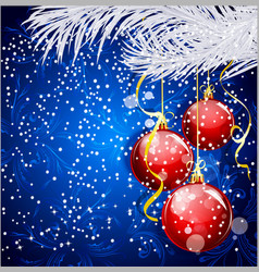 christmas festive background vector image