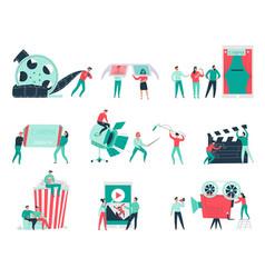 cinema flat set vector image