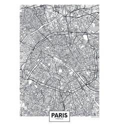 City map paris travel poster design vector