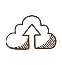 Cloud share symbol vector