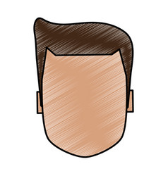 Color pencil image faceless front view executive vector