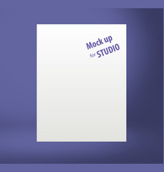 Color template mock up for display or montage of vector