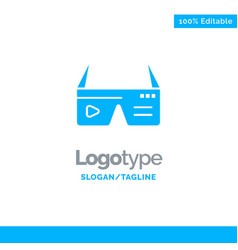 Computer computing digital glasses google blue vector