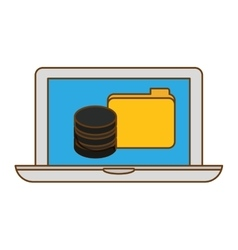 Computer web hosting icon design vector