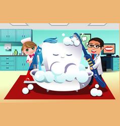Concept of dental hygiene vector