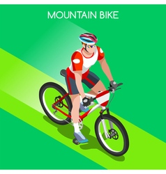 Cycling Mountain Bike 2016 Summer Games 3D vector