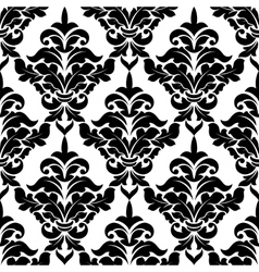 Decorative damask floral seamless pattern vector