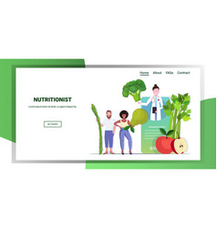 doctor nutritionist explaining to patients vector image