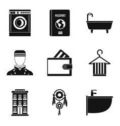 Drinking establishment icons set simple style vector