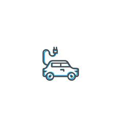 electric car icon design transportation icon vector image