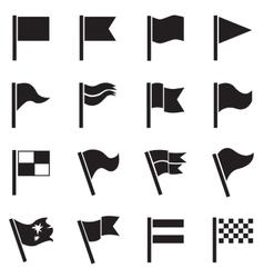 flag icon set vector image