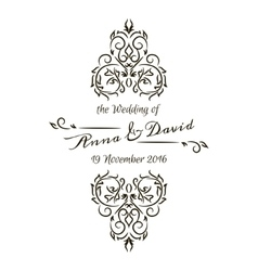 Floral calligraphic frame vector