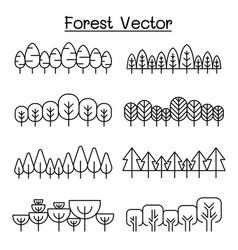 forest pattern background landscape vector image