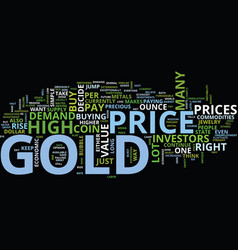Gold price dare to ride the bubble maybe text vector
