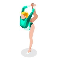 Gymnastics floor ex 2016 sports 3d vector