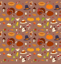 happy thanksgiving day design holiday seamless vector image