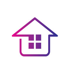 home construction building logo image vector image