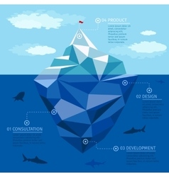 Iceberg infographic template Business vector image