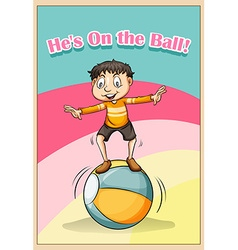 Idiom he on the ball vector