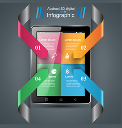 infographics infographic template vector image
