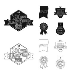 isolated object of emblem and badge logo vector image