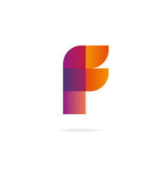 letter f logo design template elements vector image