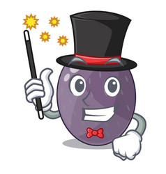 Magician velvet tamarind fruit isolated on mascot vector