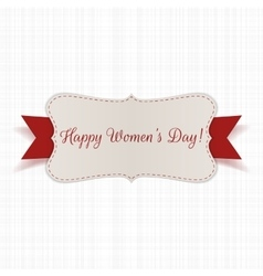 March 8 Womens Day festive realistic Banner vector