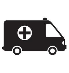 medical transport vector image