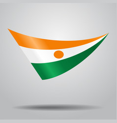 Niger flag background vector