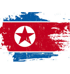 north korean scratched flag vector image