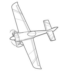 outline sport plane vector image