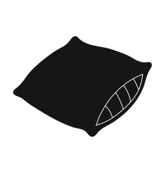 Pillow icon in black style isolated on white vector