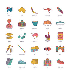 punch icons set cartoon style vector image