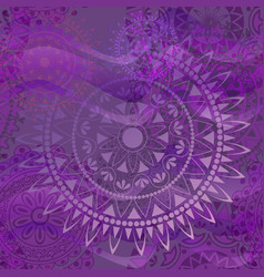 Purple texture with mandalas vector