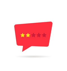 rating star badge like negative feedback vector image