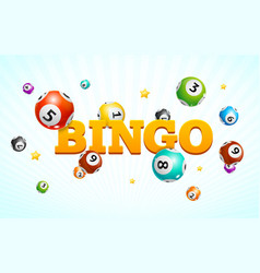 realistic detailed 3d lotto bingo concept card vector image
