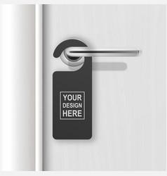 realistic paper black blank door hanger vector image