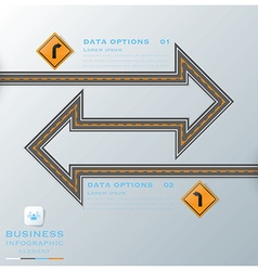 Road Street Traffic Sign Business Infographic vector