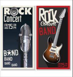 Rock concert banner vector