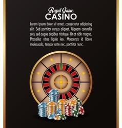 Roulette chips casino las vegas icon vector