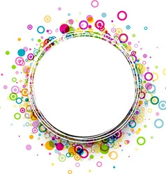 Round background with circles pattern vector