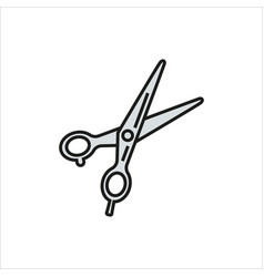 scissors icon on white background vector image
