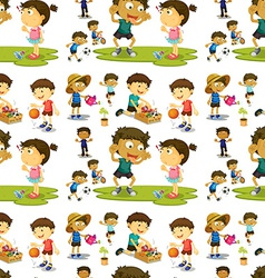 Seamless children vector image