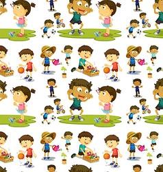 Seamless children vector