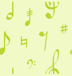 seamless pattern with musical symbols vector image