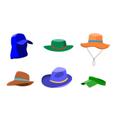 Set of summer hats for men and women vector