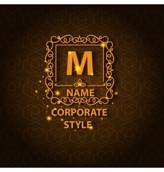 Shiny corporate style card with pattern vector