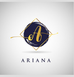 Simple elegance initial letter a gold logo type vector